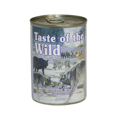 Taste of the Wild Sierra Mountain Canine Canned Wet Formula in Gravy 12 x 390g