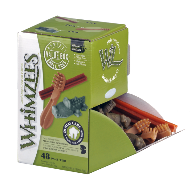 Whimzees Variety Box Dental Treat For Small Dogs 48 Pack