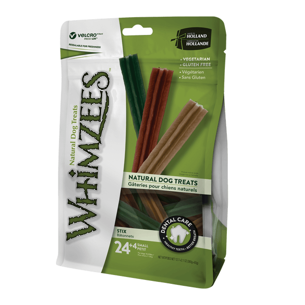 Whimzees Stix Small Dental Dog Chew Treat 28 Pack
