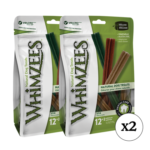 Whimzees Stix Medium Dental Dog Treat 28 Pack