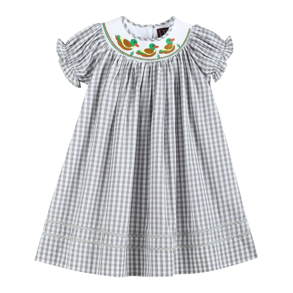 Grey Checked Mallard Duck Dress