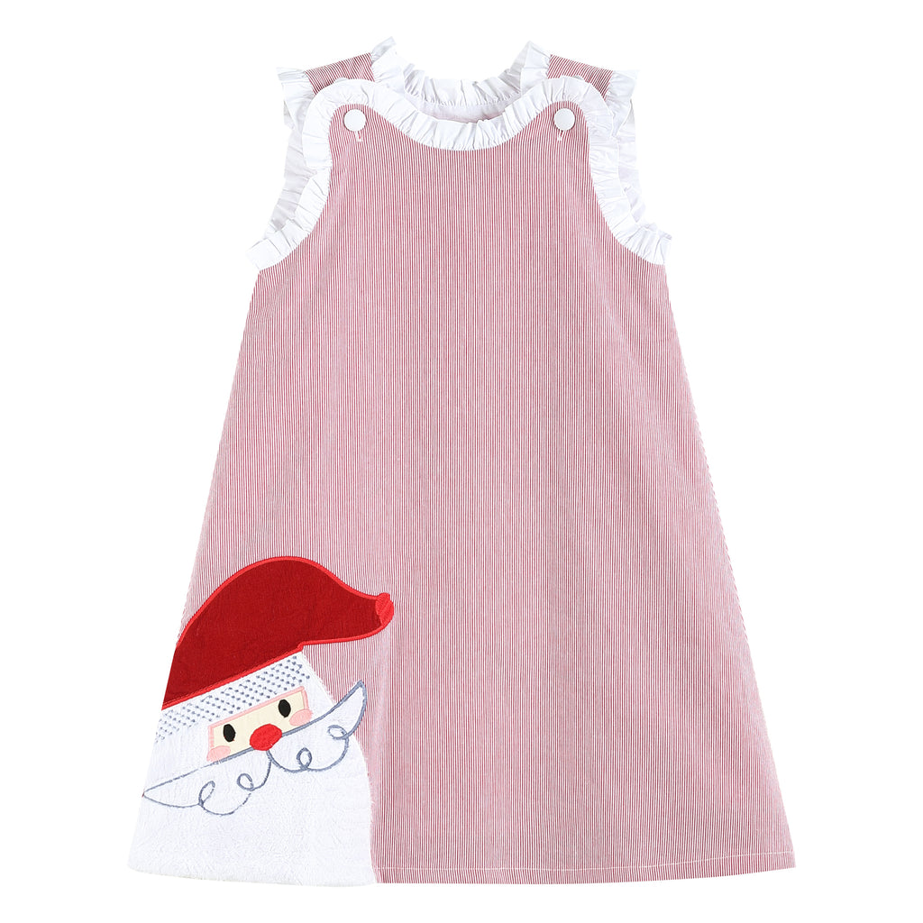 Red & White Stripe Santa Swing Dress