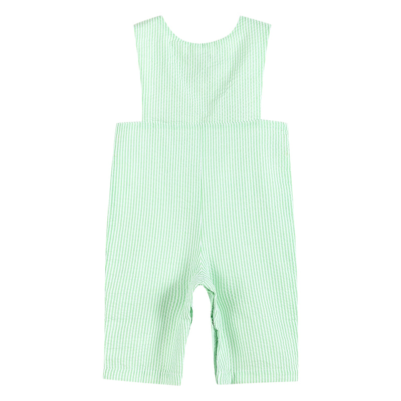 Green Harvest Truck Smocked Overalls