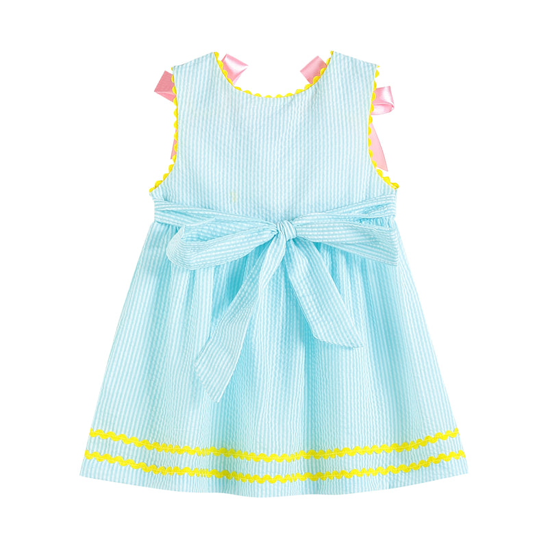 Blue and Pink Pastel Easter Chicks Dress