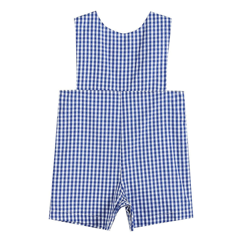 Boys Embroidered One-Piece Shortall Jon Jon