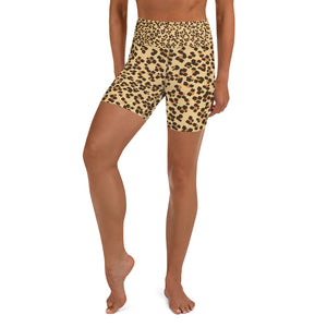 Leopard Yoga Shorts