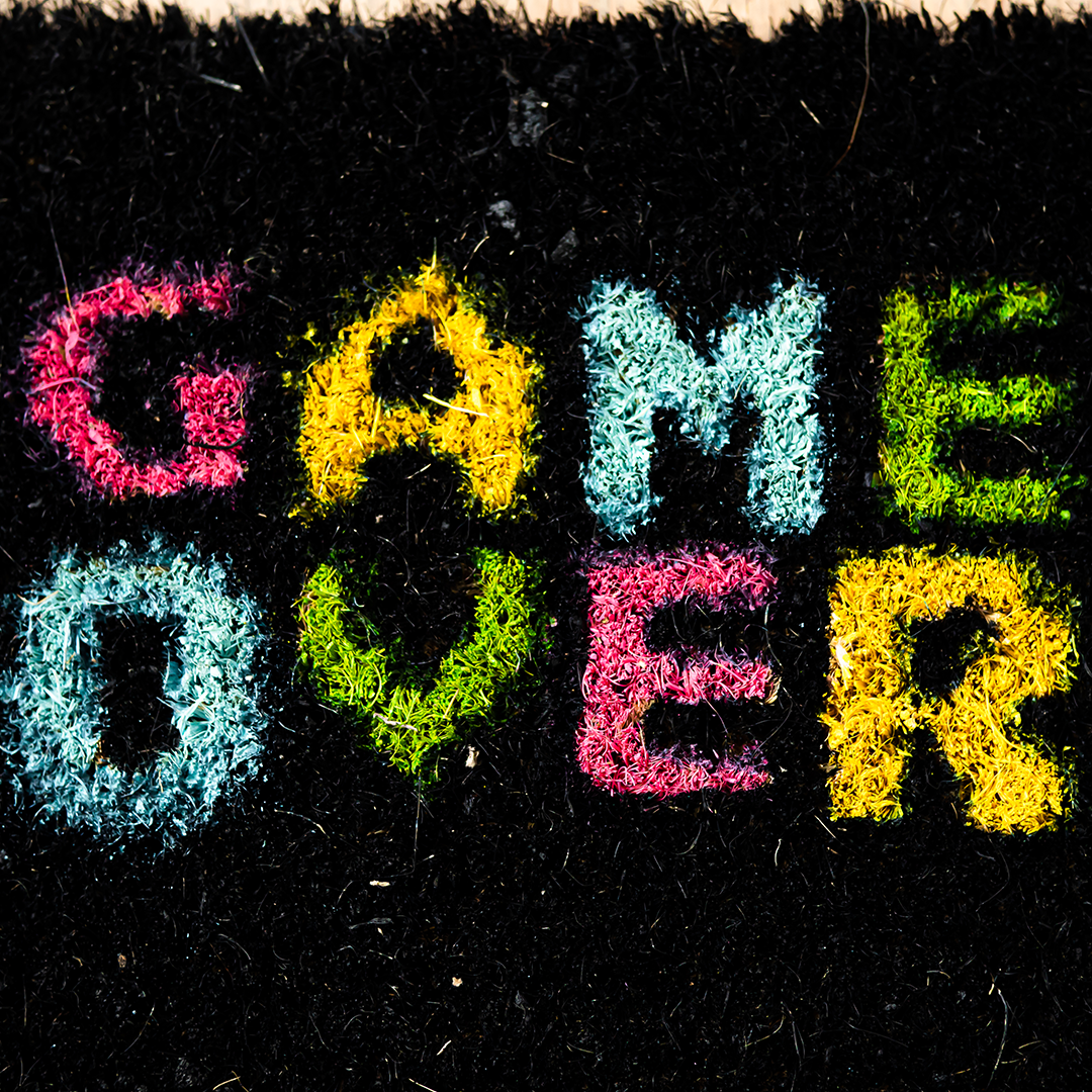 "Paillassons gaming ""Game over"""