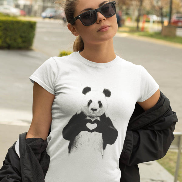 "T-shirt ""Panda love"" - Melty Stores"