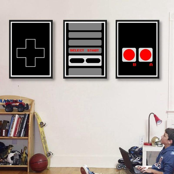 Affiches manette Nes