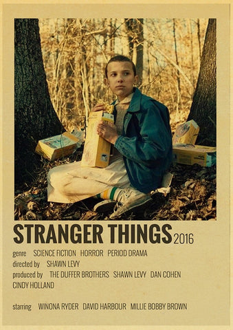 Affiche vintage Stranger Things