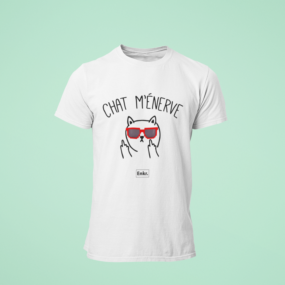 T-shirt Chat m'énerve