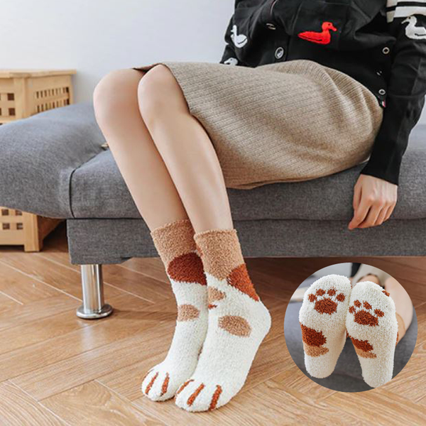 Chaussettes cocoon pattes de chat - Melty Stores