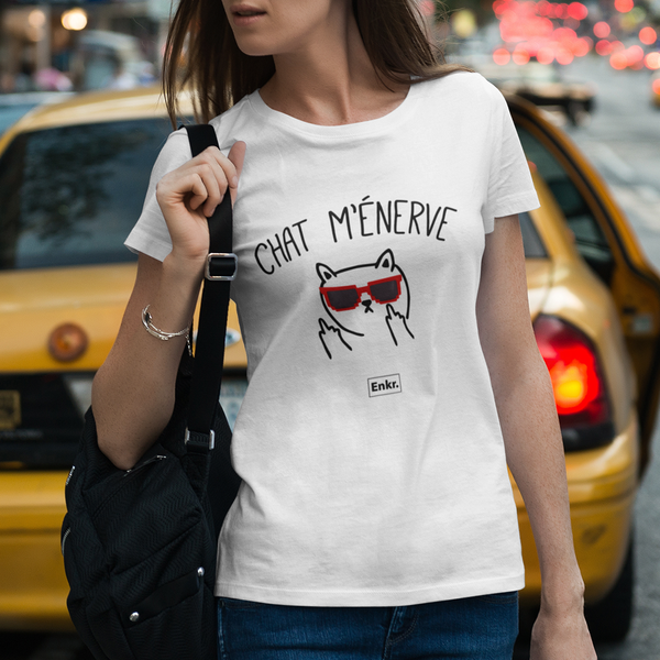 T-shirt Chat m'énerve - Melty Stores