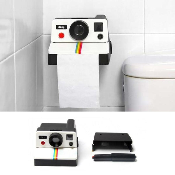 Distributeur papier toilettes appareil photo vintage - Melty Stores