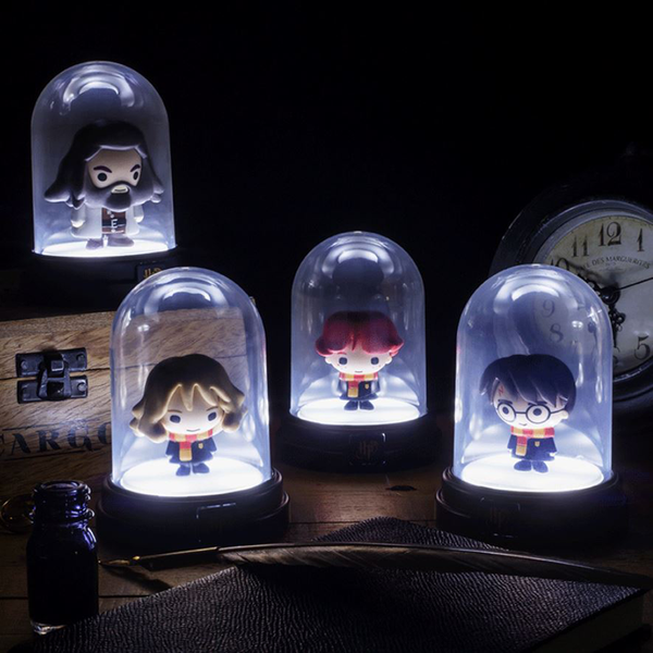 Mini lampes sous cloche Harry Potter