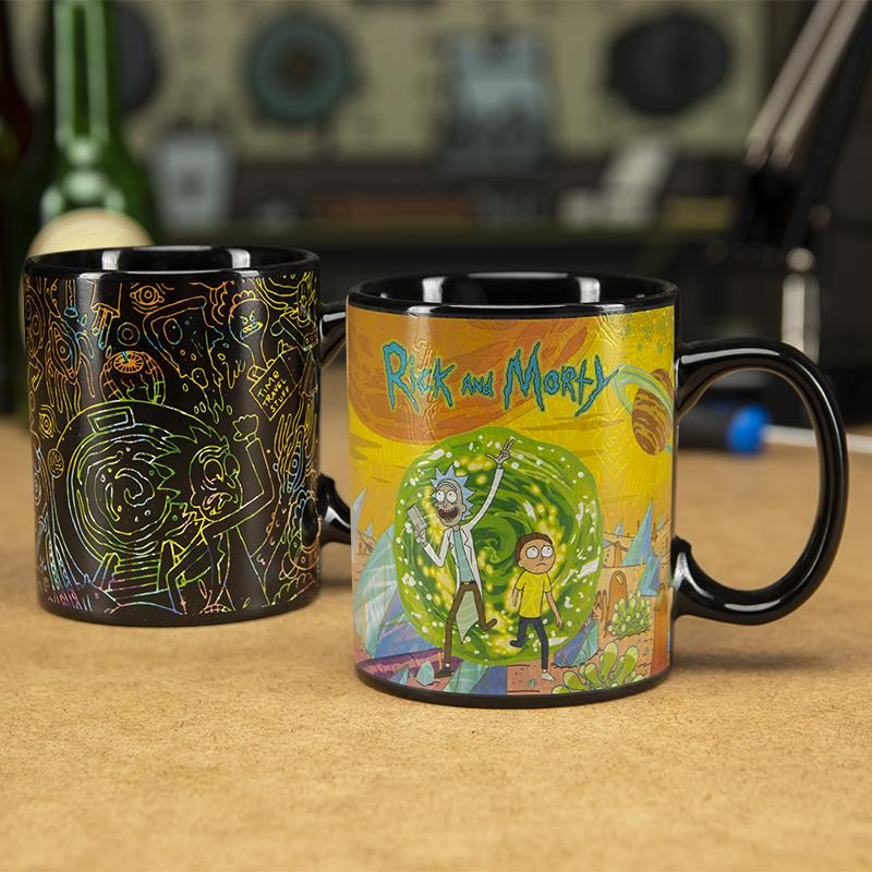 Mug thermoréactif Rick et Morty