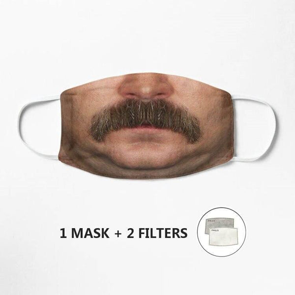Masque Ron Swanson - Melty Stores