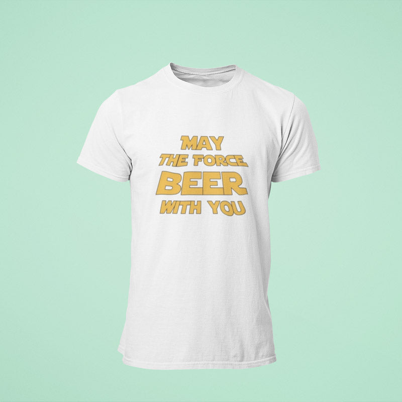 "T-shirt ""May the force Beer with you"""