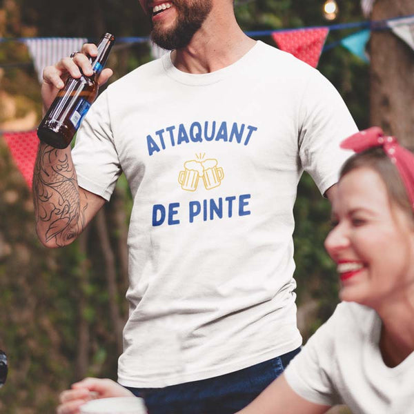 "T-shirt ""Attaquant de pinte"" - Melty Stores"