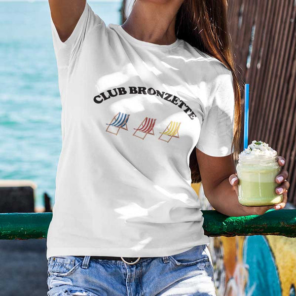 "T-shirt ""Club bronzette"" - Melty Stores"