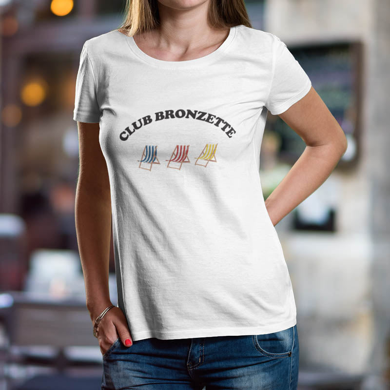 "T-shirt ""Club bronzette"""