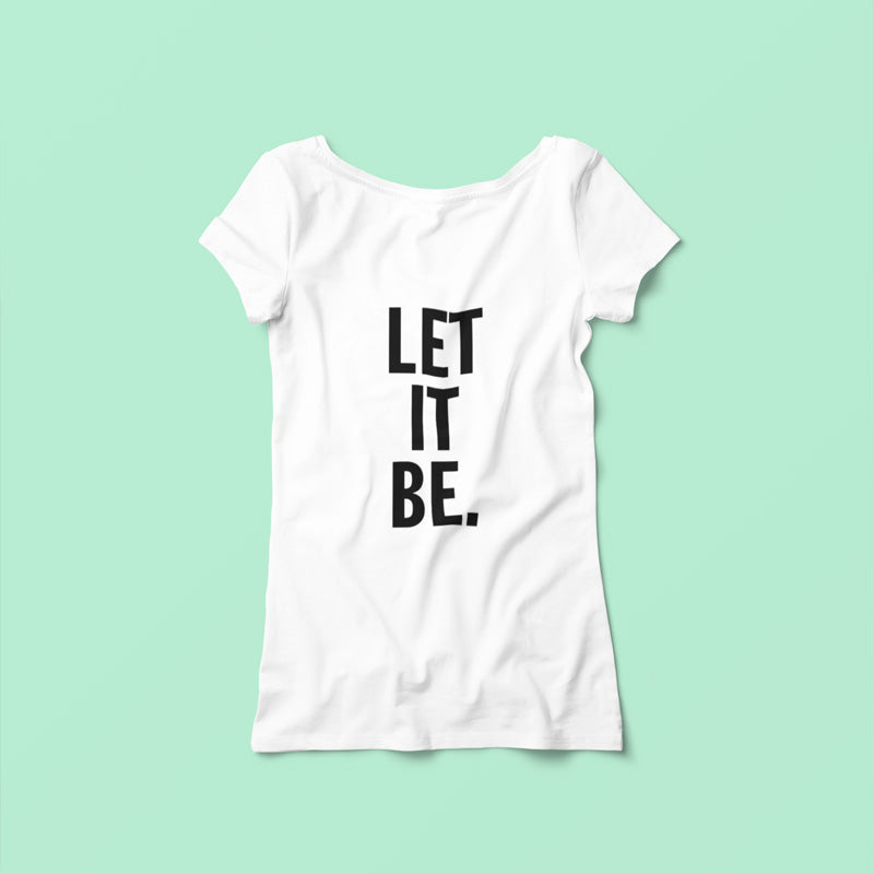 "T-shirt ""Let it be"" - H/F"
