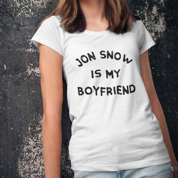 "T-shirt ""Jon Snow is my boyfriend"" - Melty Stores"