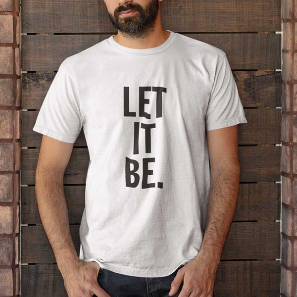 T-shirt let it be blanc homme