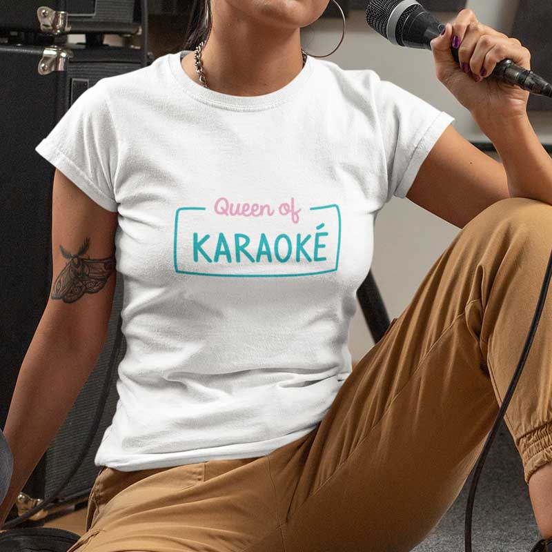 "T-shirt ""Queen of karaoké"""