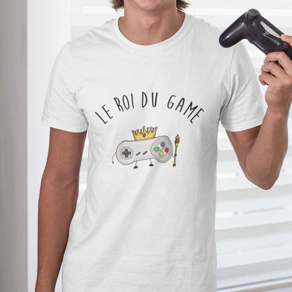 "T-shirt ""Le Roi du Game"" - Melty Stores"