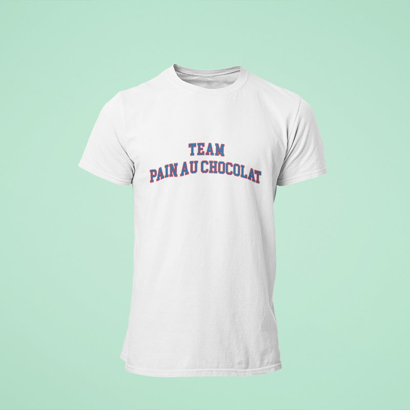 T-shirt Team Chocolatine et Team Pain au chocolat