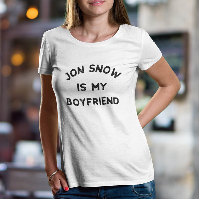 "T-shirt ""Jon Snow is my boyfriend"""