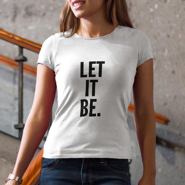 T-shirt let it be blanc femme