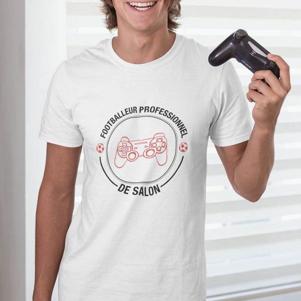 "T-shirt ""Footballeur professionnel de salon"""