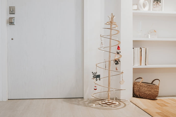 Spiral Wooden Christmas Tree