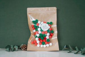 Christmas Resin Clay Balls