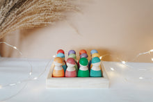 Load image into Gallery viewer, Rainbow Peg Dolls with Tray