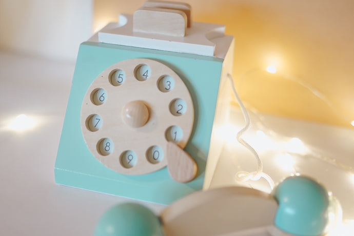 Mint Wooden Retro Phone