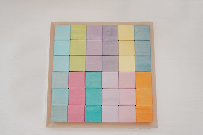 *PREORDER* Pastel Cube Blocks with Tray