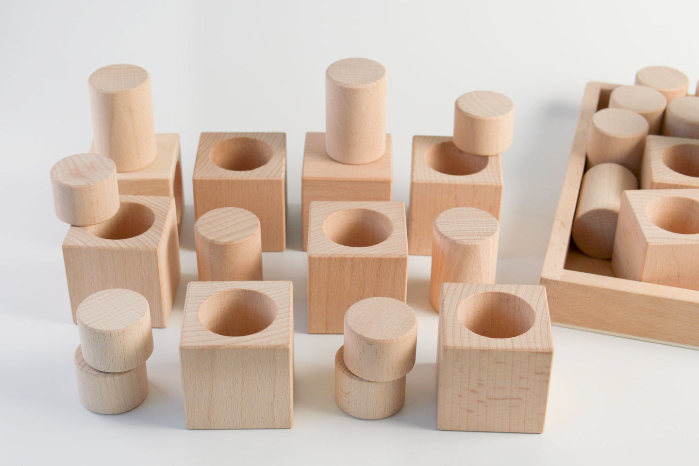 Cylinder Cublocks - Natural