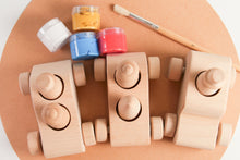 Load image into Gallery viewer, Wooden Cars Painting Kit