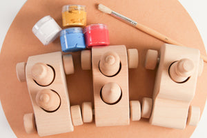 Wooden Cars & Pegs Painting Kit