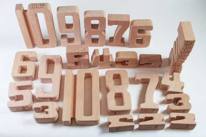 Number Math Blocks with Tray