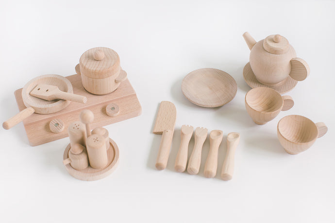 *BACK IN STOCK* Wooden Cookery Set