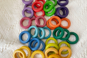 Wooden Rainbow Rings