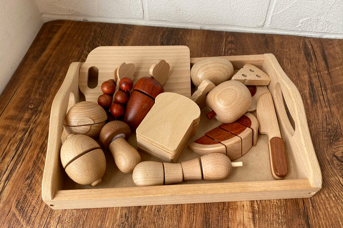 Natural All-Wood Chopping Food Set