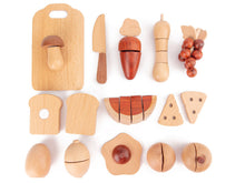 Load image into Gallery viewer, Natural All-Wood Chopping Food Set