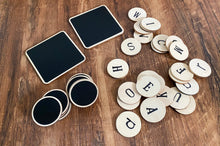 Load image into Gallery viewer, *NEW* Chalkboard Wooden Disks