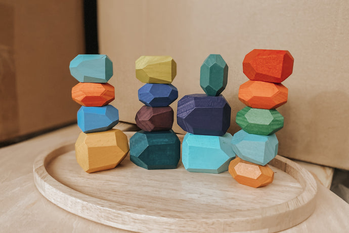 Stacking Stones Set - Rainbow