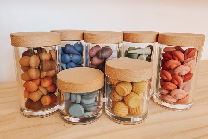 Loose Parts Organizational Acrylic Storage Jars